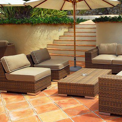 Terrakottafliesen Terrasse
